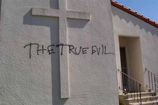 Hate Crime Historic Catholic Church Vandalized Women Of
