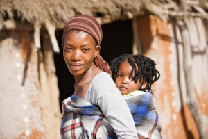 woman poor African