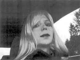 Bradley Manning wearing a woman's wig