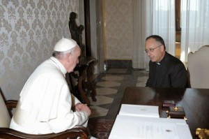 Pope Francis with Fr. Spadaro, S.J.
