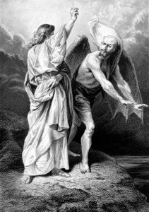 devil with christ