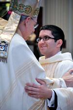 Fr. Kneib on the day of his ordination