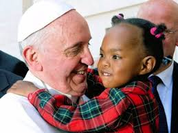 Pope Francis with child