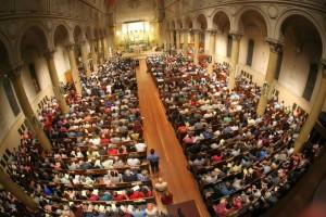 Adorers at St. Paul's chapel last night