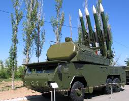 Buk missile launcher, the type believed to have brought down MH17 over the Ukraine on July 17