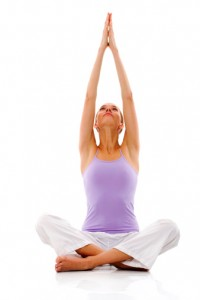 yoga white background
