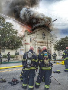 Holy Cross burns
