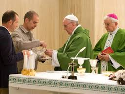 Pope Francis celebrating Mass