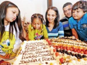 The family celebrated Zephany's birthday every year