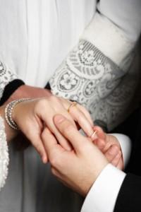bride groom rings