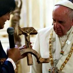 pope crucifix