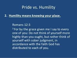 Pride vs humility 4