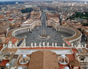 Vatican aerial view
