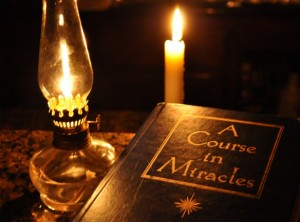 a course in miracles with lamp