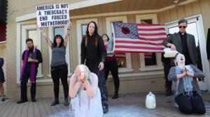 satanic milk protest