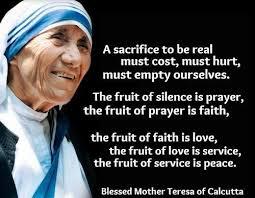 Sacrifice, prayer faith love peace