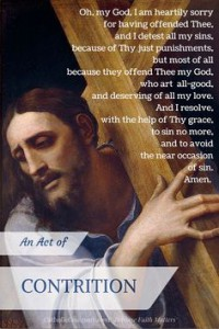 Confession, Contrition Prayer