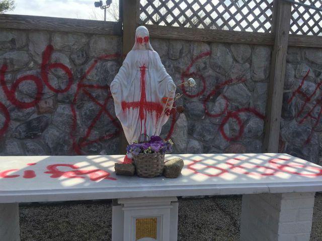 Satanic Graffiti Painted On Catholic School Archives