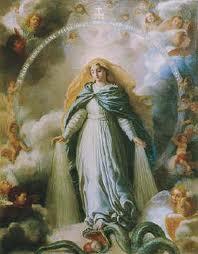 Mary crushing satan