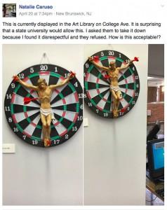 jesus dartboard