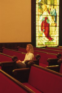 woman in chruch