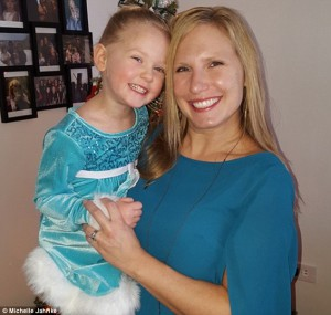 Michelle Jahnke with daughter Elana