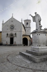 Basilica of St. Benedict in Norcia which was completely destroyed