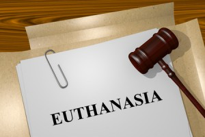 47834157 - render illustration of euthanasia title on legal documents