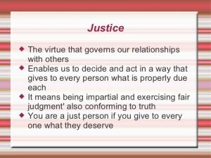 Justice virtue