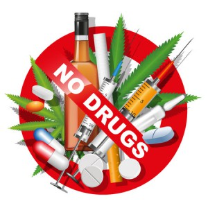 38653206 - no drugs, smoking and alcohol sign. vector illustration
