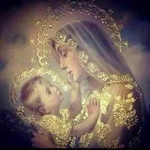 Mary adoring Jesus 1