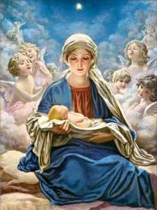 Mary adoring Jesus 2