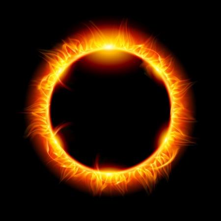 10083099 - solar eclipse. illustration on black background for design
