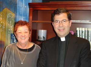 father frank with norma mccorvey