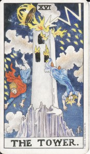tarot tower card