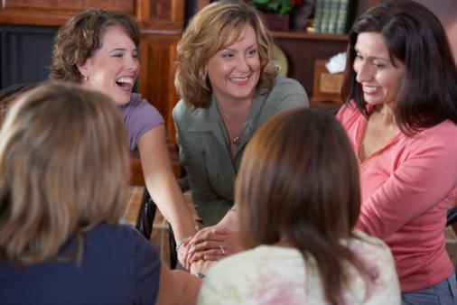 women sitting in circle