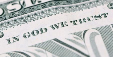 46198637 - in god we trust on a one dollar bill
