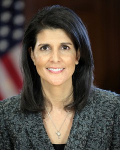 Nikki Haley, US Ambassador to the UN