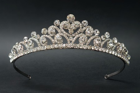 48681683 - diadem on a black background