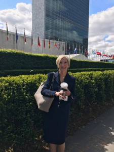 Johnnette at UN