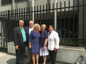 The UN Team: (L/R) Ken Corcoran, Pat Alix, Joan Alix, Judy Studer, Alex Faiz