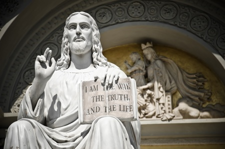 11479260 - jesus statue with the quote book