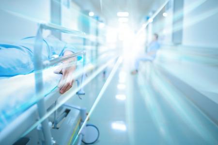 42068852 - dead patient in hospital corridor