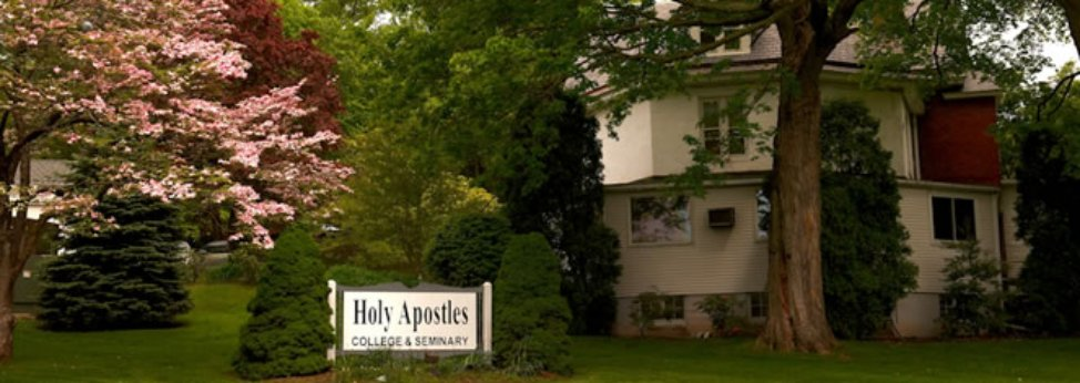 holy apostles with sign